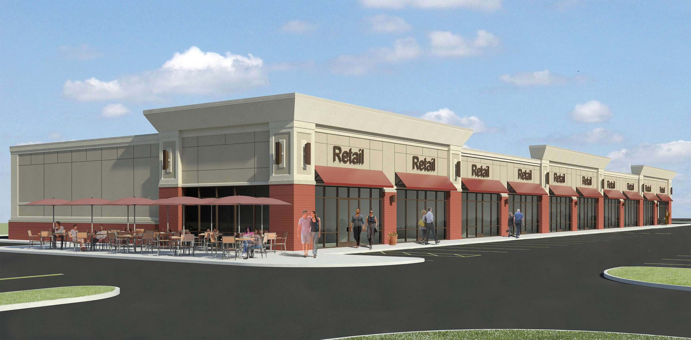 Strip Mall Rendering